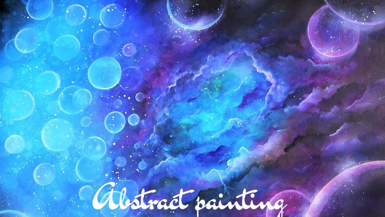 Acrylic Abstract Art Tutorial Space Storm How To Blend Acrylics Abstract Painting Techniques