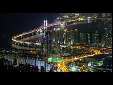 Busan, South Korea aerial view timelapse