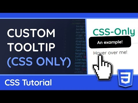 Create A Custom Tooltip With Only CSS - Web Design Tutorial