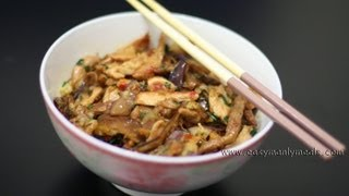 Свинина с баклажанами. Китайская кухня