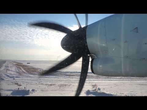 Air Canada Express Bombardier Dash 8 Q400 Landing Saskatoon CYXE Runway 9