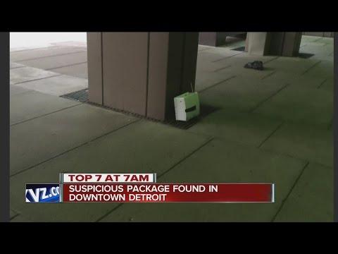 Suspicious package found in Detroit
