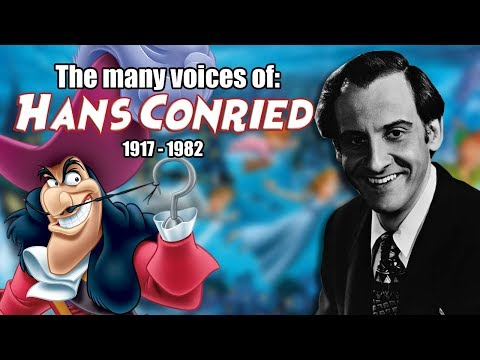 Many Voices of Hans Conried Animated Tribute  R.I.P.  Captain Hook  Peter Pan