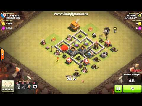 Clan War Attack- How To Attack For Beginners !!