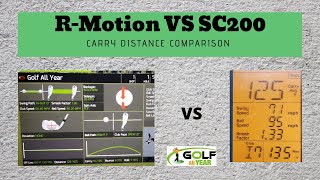R-Motion Distance Test - Comparing Distances With Swing Caddie Sc200