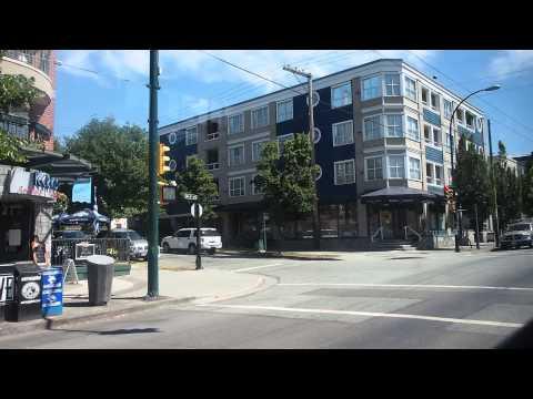 溫哥華44號公車,UBC站至Waterfront站窗外景-01