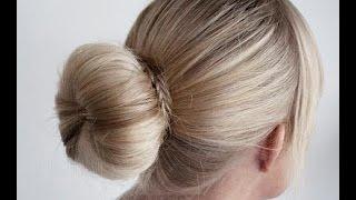 VLOG Причёска ПУЧОК с бубликом-быстро и легко от katvickas98(Этот видео урок для тех у кого длинные или средней длинны волосы.Быстро,легко и красиво.На каждый день и..., 2015-02-19T22:16:07.000Z)