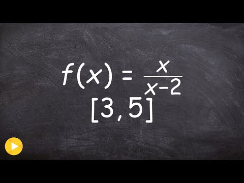 Determine the extrema using EVT of a rational function