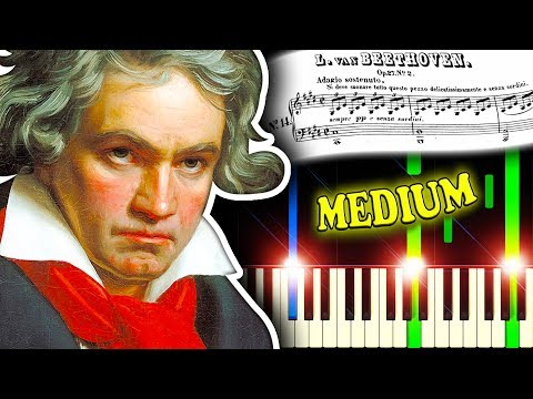 BEETHOVEN - MOONLIGHT SONATA (Movement 1) - Piano Tutorial