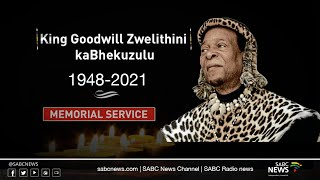 Memorial Service for AmaZulu King Goodwill Zwelithini kaBhekuzulu