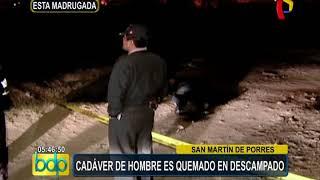 Hallan cadáver de un hombre en descampado de San Martín de Porres