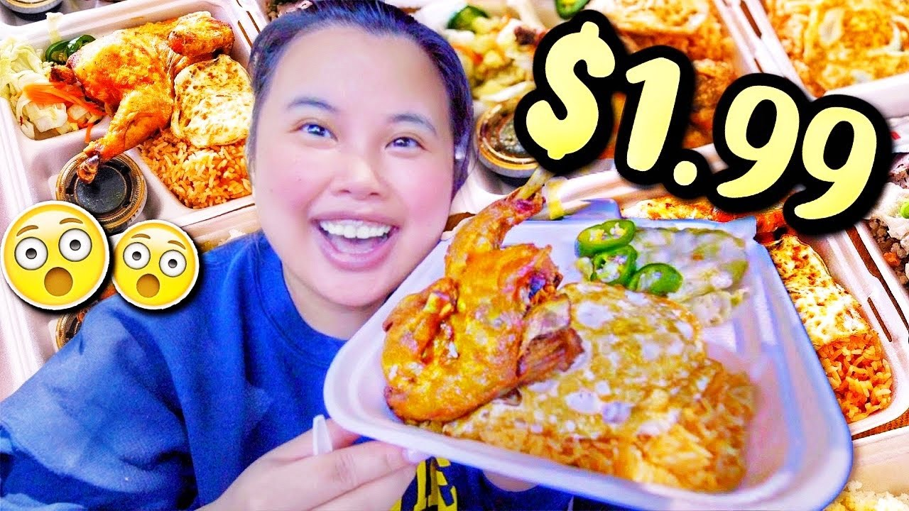 THE $1.99 RESTAURANT (Nhà Hàng $1.99) MUKBANG 먹방 THE BEST CHICKEN + RED RICE EVER EATING SHOW!