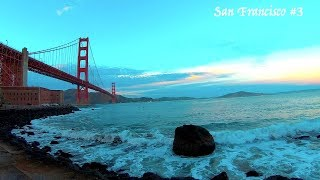 #3 SF Palace of Fine Arts & Golden Gate Sunset Beach Hiking with German Shepherd Part 3 of 3