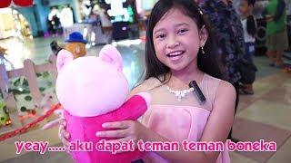 Dapat Hadiah Boneka  💖 Jessica bermain Lempar Bola Kaleng + Nerf Gun for Kids 💖 Mainan Anak