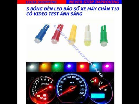 Test đèn Led Báo Số Xe Máy Chân T5 Legia Shopping