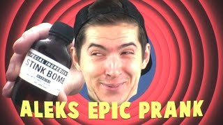 One of Cow Chop's most viewed videos: ALEKS EPIC MILITARY GRADE STINK BOMB PRANK