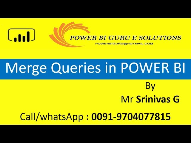 Merge Queries in Power BI | Power BI Training from Power BI Guru | Power Bi tutorial for beginners