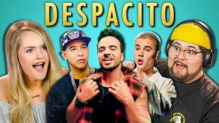 ADULTS REACT TO DESPACITO (Luis Fonsi, ft. Daddy Yankee, Justin Bieber)