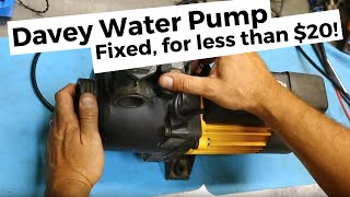Hilltop Workshop | Davey Water Pump Intermittent Fault - Repair and Inspection.