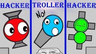 Diep.io Hacker vS Hacker Vs TROLLER !! Diep.io NEW TOP FUNNIEST MOMENTS FT WORMATE.IO