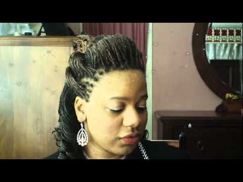 Microbraids 1 2 Up 1 2 Down Double Hump Bump Hairstyle