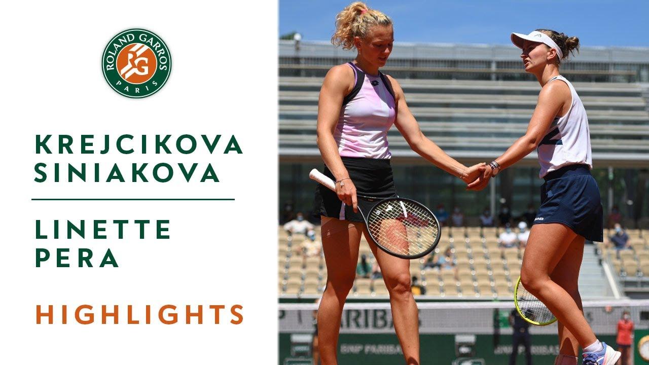 Barbora Krejcikova wins women's doubles with Katerina Siniakova ...