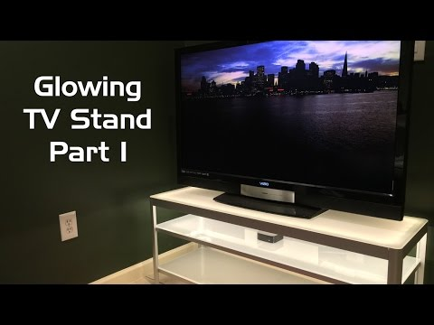 Glowing TV Stand with Philips Hue Lightstrip Plus: Part 1