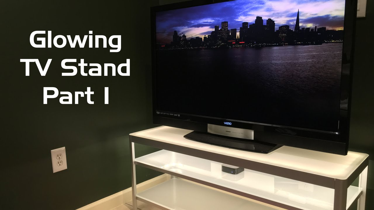 Glowing Tv Stand With Philips Hue Lightstrip Plus Part 1 Youtube