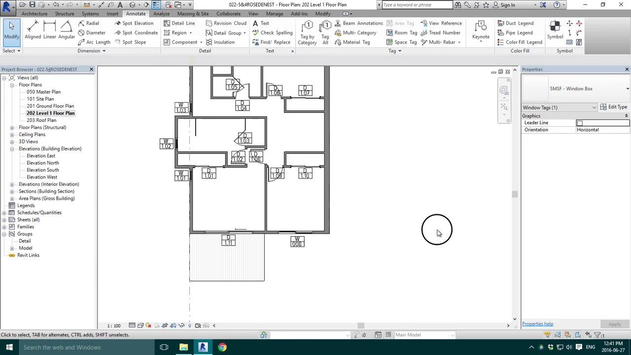 Drawing Property Lines In Revit : Window tag numbers youtube