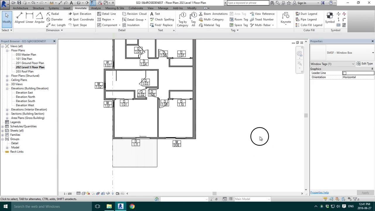 Floor Elevation Tag : Window tag numbers youtube