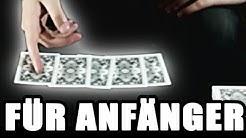 Einfacher Anfänger Kartentrick mit Erklärung (Name buchstabieren) Deutsch