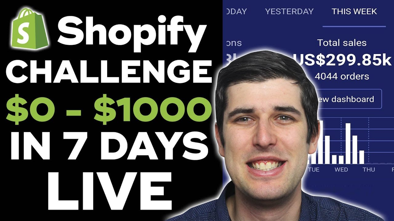 (Day 1) SHOPIFY CHALLENGE: NEW STORE FROM $0 TO $1,000 IN 7 DAYS STEP-BY-STEP | SHOPIFY CASE STUDY