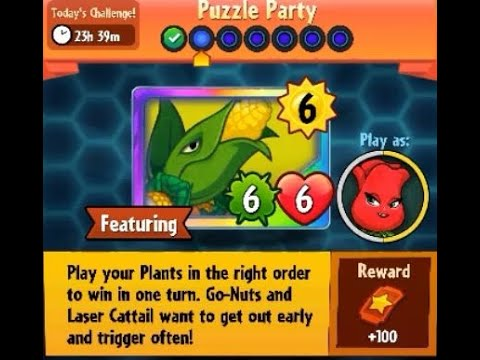 Puzzle Party !!! Daily Event 27 th December 2017 Plants vs Zombies Heroes