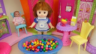 Baby doll big house toys baby Doli play