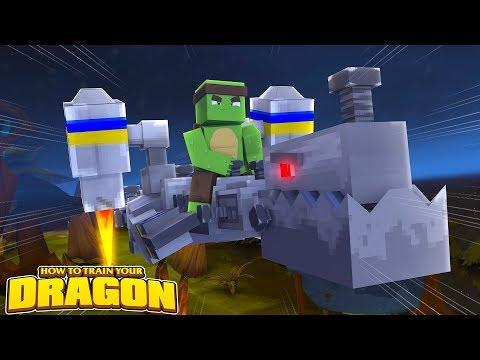 THE ROBOT DRAGON AWAKES!  How To Train Your Dragon wTinyTurtle