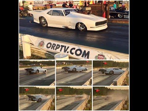 Pro Mod hits the wall at Ozark Raceway Park (July 7, 2017)