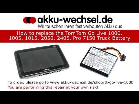 Akku-Wechsel beim TomTom Go Live 1000, 1005, 1015, 2405, 2050, Pro 7150 Navigationsgerät