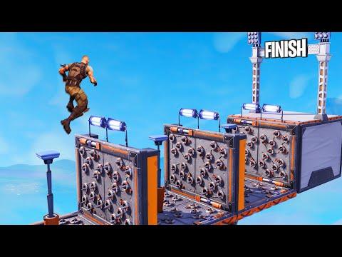 SURVIVE The DANGEROUS Obstacle Course! (Fortnite Parkour)