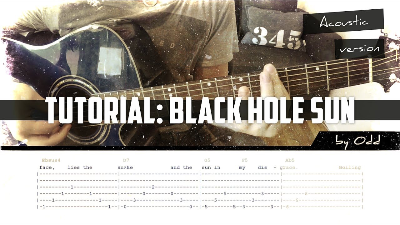 tutorial black hole sun acoustic tab song chords youtube. Black Bedroom Furniture Sets. Home Design Ideas