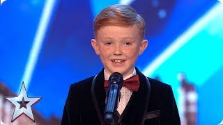 Tiny dancer Ethan Higgins WOWS the Judges | Auditions | BGT 2019