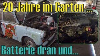 Trabant 601 GartenFund: Erster Start nach 20 Jahren | Motor kaputt? | Überraschendes Ergebnis! [OHA]