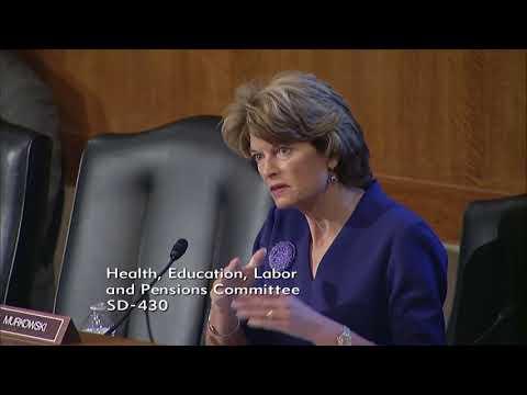 Senator Murkowski Discusses Healthcare Progress During HELP Committee Hearing