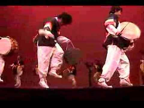 Here's an example of traditional Korean folk drumming, called poongmul.