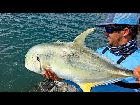 Fishing For Giant Jack Crevalles On The Jetties