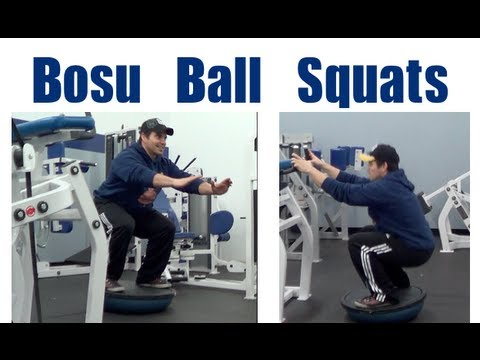 Bosu Ball Squats For Stability