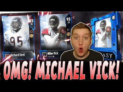OMG! MICHAEL VICK AND RICHARD DENT!   WE NEED A MICHAEL VICK PULL!   MUT 18 PACK OPENING