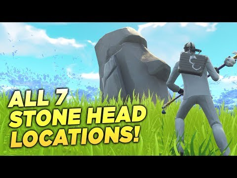 ALL 7 STONE HEAD LOCATIONS! Visit Different Stone Heads Fortnite Week 9 Season 5 Challenge Guide!