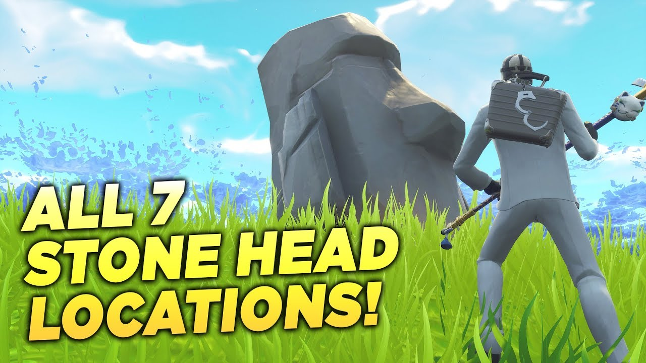 All 7 Stone Head Locations Visit Different Stone Heads Fortnite