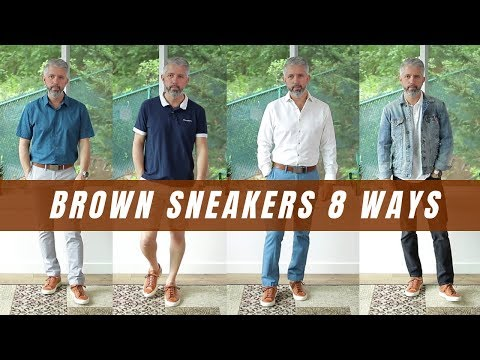 8 Ways To Style Brown Sneakers For Men