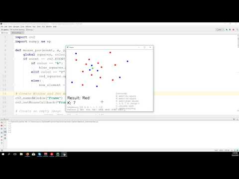k-Nearest Neighbour classification - OpenCV 3 4 with python 3